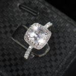 925 <b>sterling</b> <b>silver</b> Wedding <b>Rings</b> For Women Square Diamonds Simulator <b>Ring</b> bague Bijoux zirconia Engagement <b>rings</b> Accessories