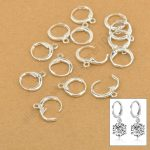 JEXXI Wholesale Handmade Jewelry Findings Genuine 925 <b>Sterling</b> <b>Silver</b> Lever Back Ear DIY Drop <b>Earring</b> 13MM Hoop DIY Settings