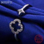 New Arrivals Women'S Charm Jewelry <b>Ring</b> 100% <b>Sterling</b> <b>Silver</b> Flower <b>Ring</b> AAA Zircon Luxury Jewelry