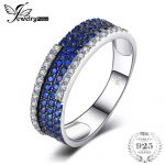 JewelryPalace 0.8ct Created Blue Spinel Cluster Cocktail <b>Ring</b> 100% Real 925 <b>Sterling</b> <b>Silver</b> Fashion Brand Fine Jewelry For Women