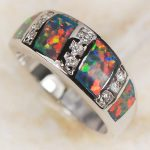 Wholesale & Retail Brand Red Fire Opal 925 <b>Sterling</b> <b>Silver</b> <b>Ring</b> Free Shipping R1105 USA size 6 7 8 9 New