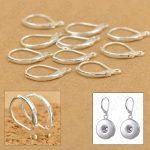 100PCS Fine Jewellery Components Genuine 925 <b>Sterling</b> <b>Silver</b> Handmade Beadings Findings <b>Earring</b> Hooks Leverback Earwire Fittings