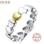 2017 ROXI Brand 925 <b>Sterling</b> <b>Silver</b> <b>Ring</b> Luxury Women Love Heart Gift Jewelry Fashion Women Wedding Bridal Party Finger <b>Rings</b>