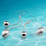 Charm <b>earrings</b>! Solid 925 <b>Sterling</b> <b>Silver</b> <b>earrings</b> for women. Olive shape drop <b>Earrings</b>. <b>earrings</b> beads, girlfriend's gift.