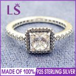 LS High Quality 100% Real 925 <b>Sterling</b> <b>Silver</b> Timeless Elegance <b>Ring</b> For Women Party & Wedding 100% Fine Jewelry