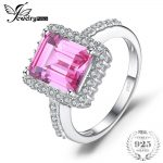 JewelryPalace luxury 4.88ct Created Pink Sapphire Engagement <b>Ring</b> Solid Charm 925 <b>Sterling</b>–<b>Silver</b>-Jewelry For Women 2018 Fashion