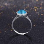 2017 New Fashion adjustable <b>ring</b> Top quality jewelry natural opals <b>rings</b> 925 <b>sterling</b> <b>silver</b> <b>ring</b> for women gift free box