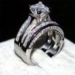 choucong jewelry Luxury 925 <b>Sterling</b> <b>Silver</b> Wedding Band <b>Rings</b> finger for Women 7*7mm Princess-cut 15ct 5a zircon 2-in-1 <b>ring</b>