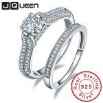 Big Sale 2016 100% 925 <b>Sterling</b> <b>Silver</b> Wedding <b>Rings</b> Genuine Jewelry Real Solid <b>Silver</b> <b>Ring</b> Set 1.25Ct Gem For Women With box