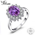 Jewelrypalace Princess Diana 3.22 ct Created Alexandrite Sapphire Wedding <b>Rings</b> For Women 925 <b>Sterling</b> <b>Silver</b> Brand Fine Jewelry