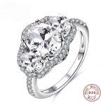 BFQ Sale Fashion Jewelry <b>Ring</b> Have S925 Stamp Real 925 <b>Sterling</b> <b>Silver</b> Set Diamant Wedding /Party <b>Rings</b> for Women's