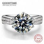 <b>Ring</b> <b>Silver</b> 100% Pure 925 <b>Sterling</b> <b>Silver</b> <b>Ring</b> Set Luxury 2 Carat Zirconia Wedding <b>Rings</b> for Women Engagement <b>Ring</b> GTR001
