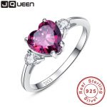 Heart Genuine Garnet <b>Ring</b> 925 <b>Sterling</b> <b>Silver</b> engagement <b>ring</b> Stunning Fabulous Design Hot Sale Promotion Best Gift For Friend
