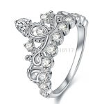 Newshe Crown Shape Wedding <b>Ring</b> For Women 925 <b>Sterling</b> <b>Silver</b> Engagement Band Classic Jewelry Size 5 6 7 8 9