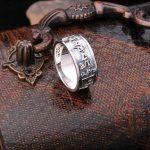 Handmade 925 <b>Silver</b> Tibetan OM Mani <b>Ring</b> Vintage Thai <b>Silver</b> Buddhist OM Words <b>Ring</b> Pure <b>Sterling</b> <b>Silver</b> OM <b>Ring</b> gift