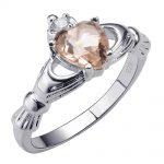 Morganite 925 <b>Sterling</b> <b>Silver</b> <b>Ring</b> Beautiful Jewelry Size 5 6 7 8 9 10 11 12 F1530