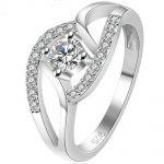 Size 4-11 <b>Sterling</b> <b>Silver</b> Wedding Engagement <b>Ring</b> Cubic Zircon Infinity Statement Anniversary Valentine Gift