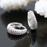 925 <b>Sterling</b> <b>Silver</b> White Zirconia Hoop Creole <b>Earrings</b>, Most Fashion Glam Jewelry Bijoux Creolen Soul Earings Gift for Women