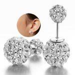 <b>Sterling</b>–<b>silver</b>-jewelry pendientes mujer <b>earrings</b> 925 brincos plata earing stud orecchini oorbellen 22 women jewelry round free