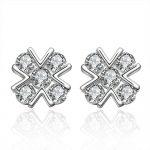New Cross White Crystal Zircon <b>Earrings</b> 925 <b>Sterling</b> <b>Silver</b> Crystal <b>Earrings</b> LKNSPCE600