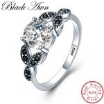 [BLACK AWN] Flower 925 <b>Sterling</b> <b>Silver</b> <b>Ring</b> Fine Jewelry Trendy Engagement Bague Wedding <b>Rings</b> for Women Size 6 7 8 9 10 C035