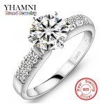 Have <b>Silver</b> Certificate!!! Real 100% 925 <b>Sterling</b> <b>Silver</b> Engagement <b>Ring</b> Set 1 Carat Simulated Diamant Wedding <b>Rings</b> For Women