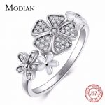 Modian Solid 925 <b>sterling</b> <b>Silver</b> Flower <b>Ring</b> Fashion Daisy Cherry Finger <b>Silver</b> <b>Rings</b> Engagement Wedding Jewelry for women