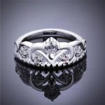 Size 7/8 Clear Cubic Zirco 925 <b>Sterling</b> <b>Silver</b> Crown <b>Ring</b> Women Gift Jewelry Brand Wedding Engagement <b>Silver</b> <b>Rings</b>