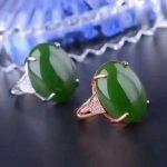 LANZYO 925 <b>silver</b> Jasper <b>Ring</b> fashion gift for women jewelry Open <b>ring</b> Classic style fine Jewelry classic j152001agby