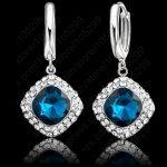 JEXXI Women Fashion Crystal <b>Earrings</b> New Arrival Brand 925 <b>Sterling</b> <b>Silver</b> <b>Earring</b> For Women Girls