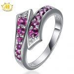 Hutang <b>Rings</b> for Women <b>Silver</b> 925 Jewelry Steampunk Natural Rhodolite Garnet Gemstone <b>Ring</b> Fine Jewellery New Anillos Mujer