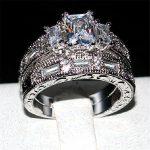 choucong Handmade Women Jewelry <b>ring</b> 3ct 5A zircon Stone cz 925 <b>Sterling</b> <b>Silver</b> Engagement Wedding Band <b>Rings</b> Set For women