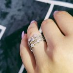 Original desgin 925 <b>Sterling</b> <b>Silver</b> band eternity <b>ring</b> for Wedding Engagement womenFashion Finger jewelry LR4319S