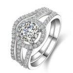 Wedding <b>Ring</b> for Lovers' 2016 New Super Shiny Zircon 925 <b>Sterling</b> <b>Silver</b> Couple <b>Rings</b> Jewelry Gift Wholesale Drop Shipping