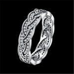 925 <b>Sterling</b> <b>Silver</b> Finger Classic <b>Ring</b> for Women Wedding Original Fine Jewelry