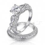 Vecalon 2016 Brand Antique Engagement wedding Band <b>ring</b> Set for women 5A Zircon cz <b>ring</b> 925 <b>Sterling</b> <b>Silver</b> Female Finger <b>ring</b>