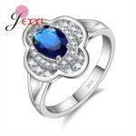 JEXXI High Quality Fashion Women <b>Rings</b> For Wedding <b>Sterling</b> <b>Silver</b> Jewelry Gift Oval Cubic Zirconia Crystal Engagement Anillos
