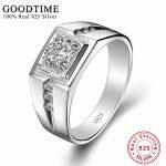 <b>Sterling</b> <b>Silver</b> <b>Rings</b> Men 925 <b>Sterling</b> <b>Silver</b> Jewelry Solid <b>Silver</b> 925 Zirconia <b>Ring</b> For Men Engagement <b>Ring</b> Classic GTR036