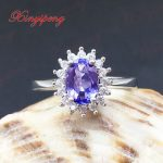 925 <b>sterling</b> <b>silver</b> with 100% natural Female Tanzania stone <b>ring</b> purple A wedding gift