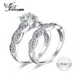 JewelryPalace Infinity 1.5ct Simulated Diamond Anniversary Promise Wedding Band Engagement <b>Ring</b> Bridal Sets 925 <b>Sterling</b> <b>Silver</b>