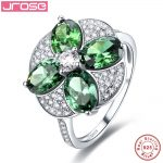 Jrose Women Exquisite Flower Style 100% Solid Real <b>Sterling</b> <b>Silver</b> Engagement 100% 925 <b>Silver</b> <b>Ring</b> Size 6 7 8 9 Free Shipping