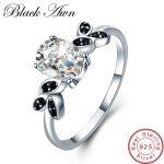 [BLACK AWN] 925 <b>Sterling</b> <b>Silver</b> Fine Jewelry Trendy Engagement Bague for Women Wedding <b>Ring</b> Size 6 7 8 C034