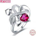 Hot women for <b>rings</b> Jrose Wedding Red heart CZ Solitaire Engagement <b>Ring</b> 925 <b>Sterling</b> <b>Silver</b> <b>Ring</b> Luxurious Design Fine Jewelry