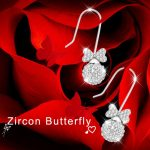 2017 new 925 <b>silver</b> ear stud butterfly series AAA Micro mosaic exquisite <b>earring</b> free shipping