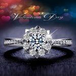 DJMACC Top Quality Brand S925 <b>Sterling</b> <b>Silver</b> Full Cubic Zirconia Flower Engagement Wedding <b>Rings</b> For Women (DJ0961)