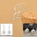 PATICO Free Shipping 200PCS Wholesale Jewelry Making Beads 925 <b>Sterling</b> <b>Silver</b> Accessory Findings Joint <b>Earrings</b> Hook Earwire