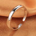 Smooth adjustable <b>ring</b> s925 Standard <b>silver</b> Moon bend <b>ring</b> gift