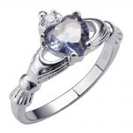 Purple Crystal Zircon 925 <b>Sterling</b> <b>Silver</b> High Quantity <b>Ring</b> Beautiful Jewelry Size 5 6 7 8 9 10 11 12