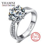 Lose Money Promotion! Fine Jewelry 100% Solid <b>Sterling</b> <b>Silver</b> <b>Ring</b> Inlay 2 Carat SONA CZ Diamant Wedding <b>Rings</b> for Women BKJZ012