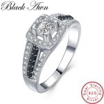 [BLACK AWN] 925 <b>Sterling</b> <b>Silver</b> Fine Jewelry Trendy Engagement Bague Wedding <b>Rings</b> for Women Size 6 7 8 C023